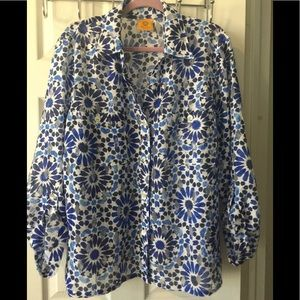 RUBY Rd. WOMAN BLUE SHEER BLOUSE/JACKET